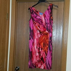 Vera Wang red print dress